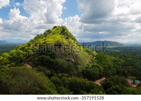View from the site Dambulla Cave Temple. Sri Lanka - stock photo