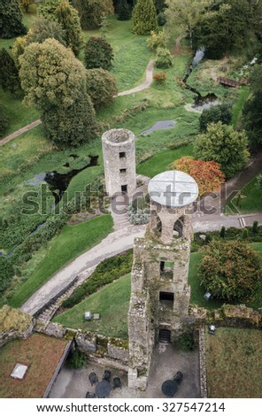 View from the top of Blarney Castle in County Cork, Ireland