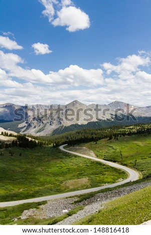 View from the top of Cottonwood Pass, Colorado.