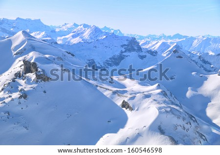 View from the top of Schilthorn, Switzerland - stock photo