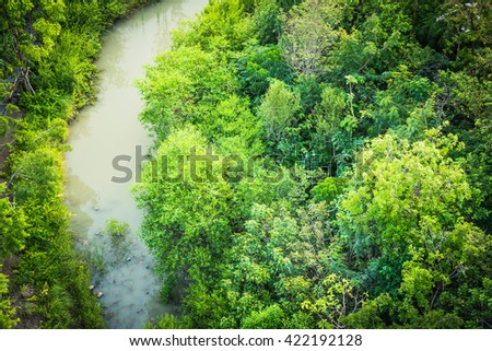 View from the top of the garden - stock photo
