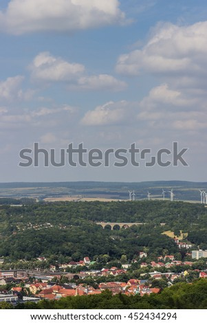 View from the Wartburg castle. Eisenach, Germany