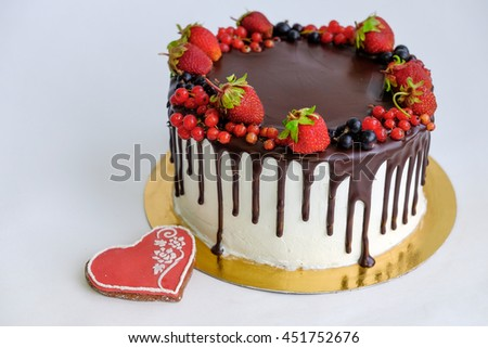 View Top Birthday Cake Decorated By Stock Photo Download Now