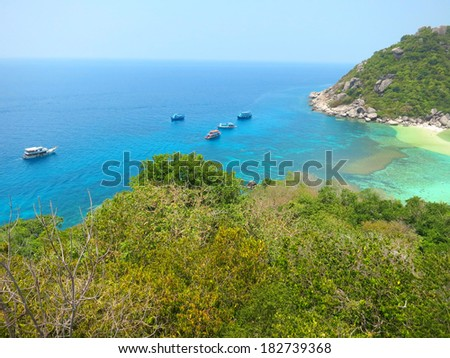 View from viewpoint an Koh Nangyuan in Thailand