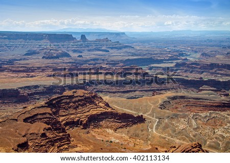 View from West RIm Trail at Dead Horse Point, Dead Horse Point State Park, Utah, USA