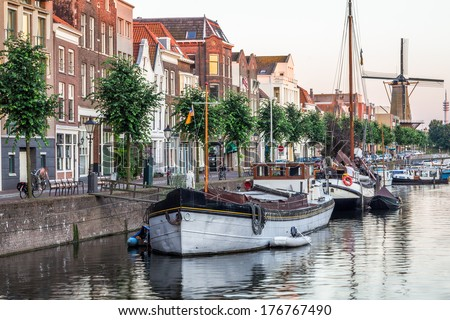 View in Rotterdam, The Netherlands - stock photo
