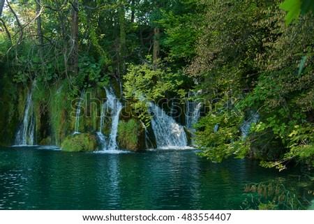 view in the Plitvice Lakes National Park, Croatia