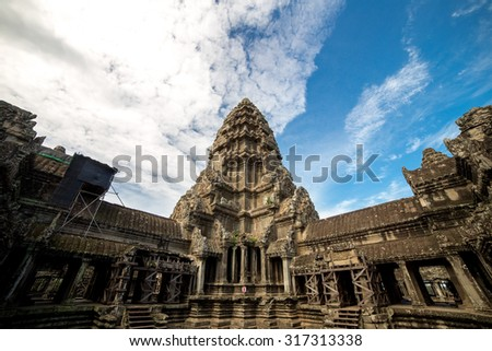View inside Angkor Wat