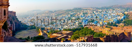 View Jodhpur, the Blue City of Rajasthan, India, Asia