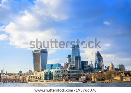 view London business center - stock photo
