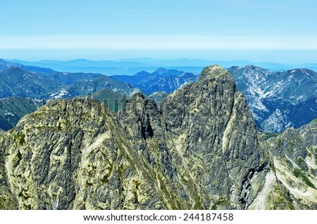 View naTatry western and red peaks of Poland