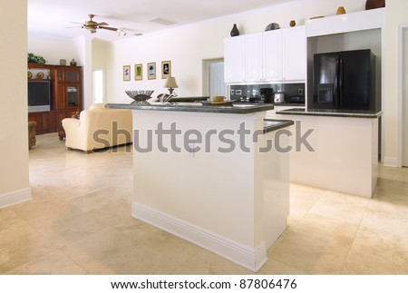 Countertop Dishwasher Bangkok : ... with upscale appliances, white cabinets, and green granite countertops