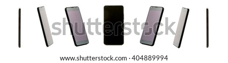 View of a Collection of High definition view of a design mobile - stock photo