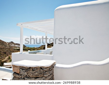 View of a cycladitic architecture  - stock photo