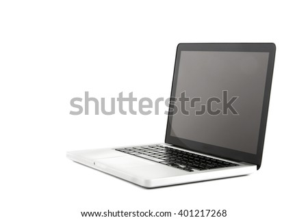 View of a High definition design laptop - stock photo