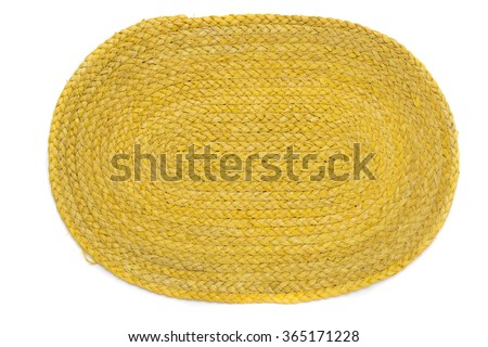 View of a oval mat for placing plates when having a meal. - stock photo