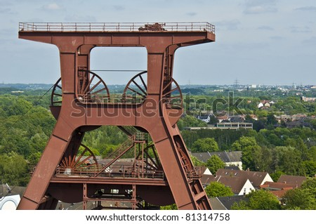 view of a part of the industrial complex of Zeche Zollverein