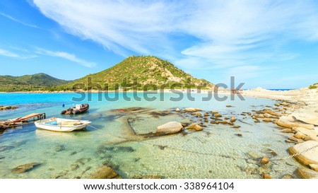 View of a Punta Molentis beach, Sardinia