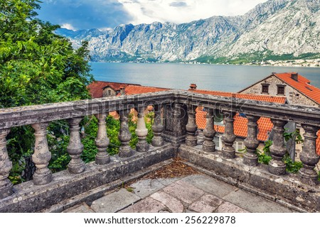 View of a small town by the sea. Montenegro - stock photo