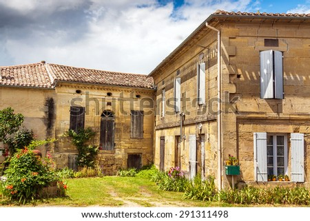 View of a typical rustic house, Provence, France, Europe  - stock photo