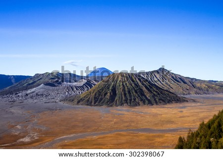 View of Active Volcano In East Java Indonesia