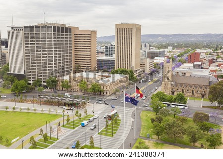 View of Adelaide city in South Australia in the daytime