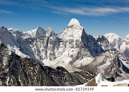 View of Ama Dablam from Island Peak