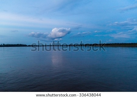 View of Amazon river in Brazil