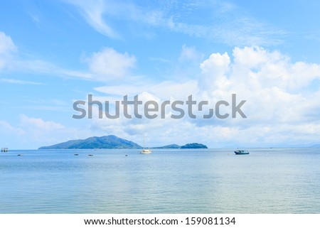 view of andaman sea, thailand