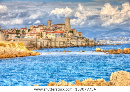 View of Antibes, France - stock photo