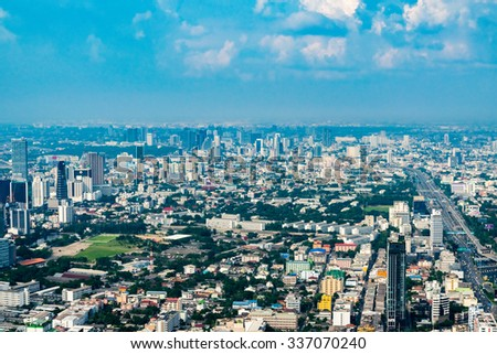 View of Bangkok with a bird's-eye view