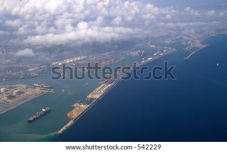 View of Barcelona - stock photo