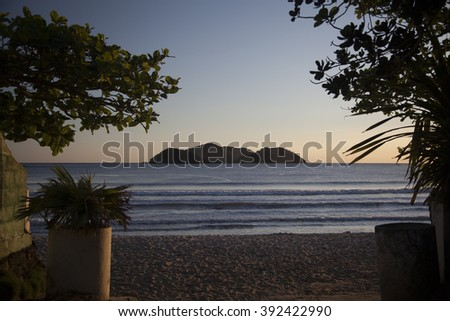 view of Barra do Sahy beach, Sao Paulo, Brazil