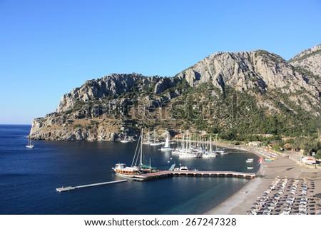 view of Bay, Aegean sea - stock photo