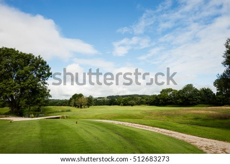 View of beautiful empty golf course