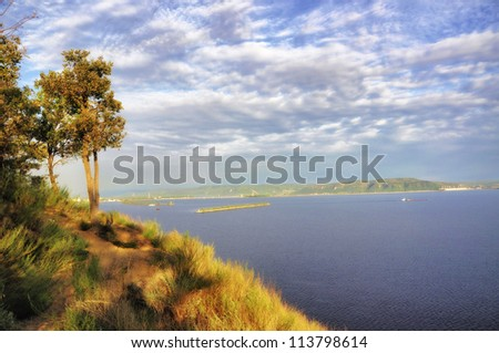 view of beautiful  river-scape