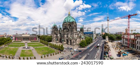View of Berlin Cathedral in Berlin in beautuful summer day - stock photo