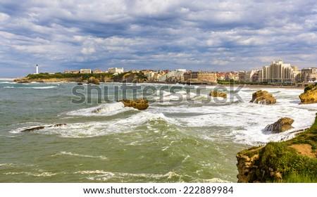 View of Biarritz - France, Aquitaine - stock photo