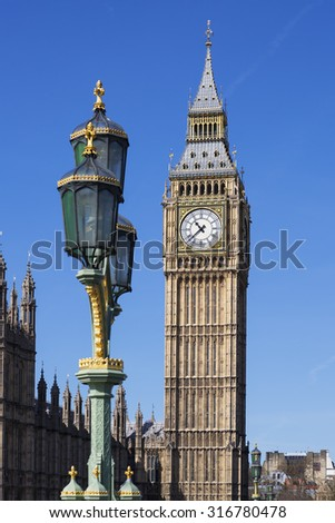 View of Big Ben, London, UK