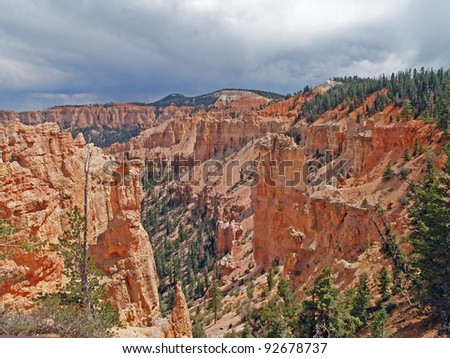 View of Black Birch Canyon in Bryce Canyon National Park, Tropic, Utah
