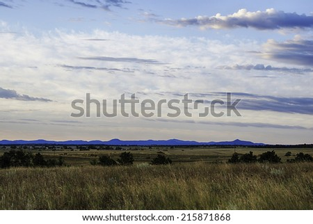View of Black Hills on Wyoming Landscape. - stock photo