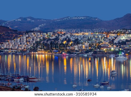 View of Bodrum on Turkish Riviera.
