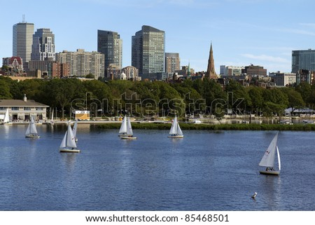 View of Boston in Massachusetts, USA. - stock photo