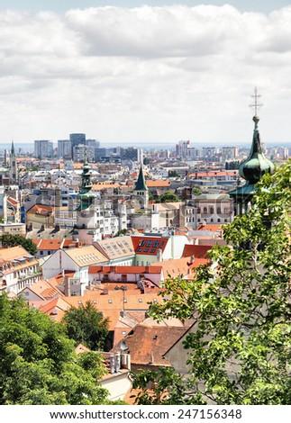 View of Bratislava - stock photo