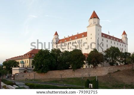 view of Bratislava castle in Slovakia - stock photo