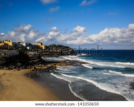 View of Bronte beach in Sydney ,Australia.