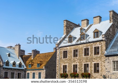 View of building in Old Quebec City Canada