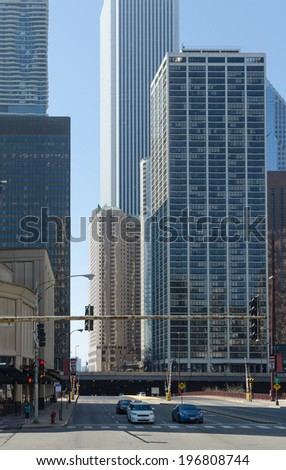 View of buildings on downtown Chicago