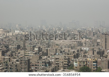 view of Cairo, Egypt - stock photo