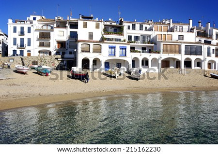 View of Calella de Palafrugell.Catalonia.Spain - stock photo